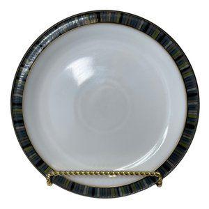 Denby Jet Stripes Dessert Salad Plate NWT
